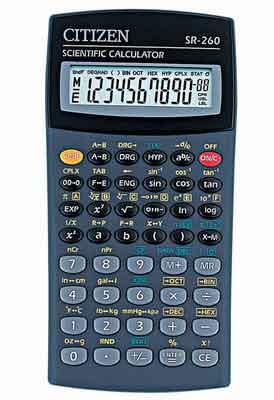 Калькулятор SR-260 інженерний