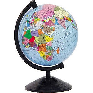Глобус подарунковий в коробці D=26см. політичний