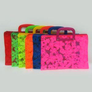 Портфель дитячий з пластик ручками 4677 Квіти
