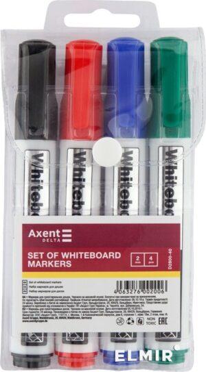 Комплект маркерів  сухостиральних 4шт  Axent  D2800-40